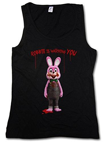 Camiseta sin mangas Robbie the evil rabbit (Mujer) (S a 2XL)
