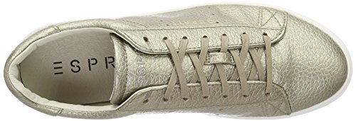 Esprit Lizette, Sneakers Basses Femme Or (265 Pale Khaki)