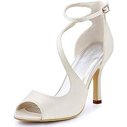 Zapatos de Novia con tira cruzada- Varios colores a elegir
