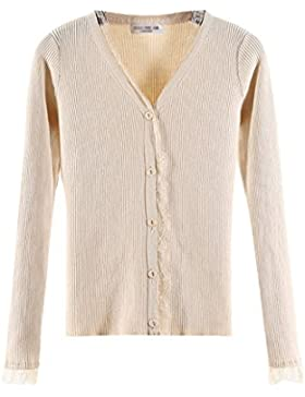 Cárdigans para Mujer Florales Encaje Cardigan Tops Outerwear Jersey