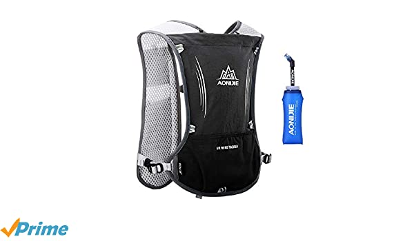 274519746c Azarxis Running Hydration Backpack, 5L Trail Race Marathon Vest Cycling  Lightweight Water Pack Hiking Rucksack for Men Women (Black - with a Soft  Water ...
