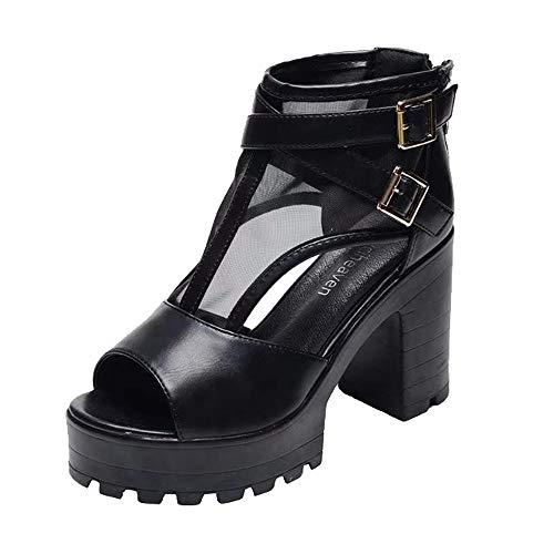 Bild von ❤️ Outdoor Peep-Toe Absatzschuhe, Amlaiworld Freizeit Schuhe Damen Urlaub Outdoor Sandalen Stilvoll Hoch Bequeme Sommerstiefel