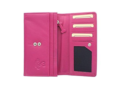 Borsa in Pelle Mala Leather Collezione BEST FRIENDS con Bassotto 3304_65 Nero Rosa