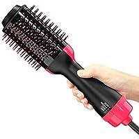 Peine de aire caliente,cepillo de alisado de iones negativos 3 en 1 y peine de cabello rizado,secador de cabello.