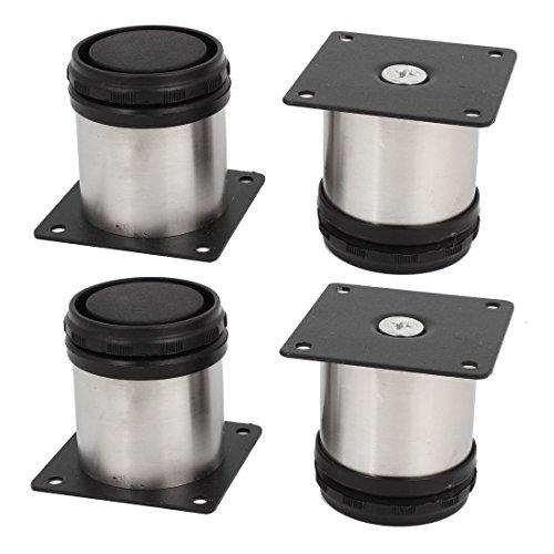 4 Stück 50 x 50 mm Verstellbare Möbelfüße, für Schränke / Schrank, aus Edelstahl, Möbelfüße, Küche Füße Arbeitsplatte / Einheit / Frühstück Bar / Schreibtisch Tischbeine Möbel Beine