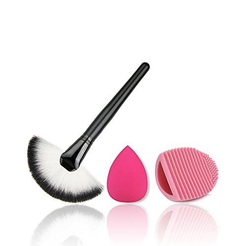 Daorier La Fondation de La Brosse Pinceau de Maquillage1 Pcs+Houppette 1 Pcs+Le Lavage Des Oeufs1 Pcs