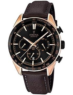 Festina Herren-Armbanduhr Chronograph Quarz Leder F16846/1