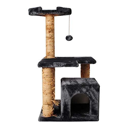 Aoligei Arbre à Chat Grand Jouet de Peluche La 44 * 44 * 89 cm Petites et Moyennes sauteuse Chaton Jouet Chat Colonne Scratch