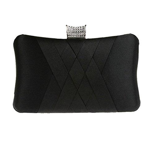 Aronvivi , Damen Clutch grau grau Einheitsgröße schwarz