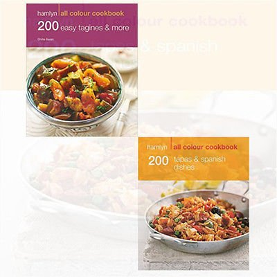 Hamlyn Cookery Series 2 Books Bundle Collection (200 Easy Tagines and More: Hamlyn All Colour Cookbook,200 Tapas & Spanish Dishes: Hamlyn All Colour Cookbook)