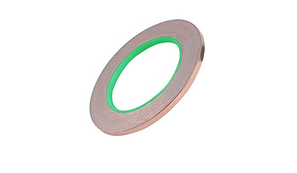 Slug Repellent Electrical Repairs 1 rolls LGEGE Paper Circuits Dual Conductive Adhesive 55yd Electron Copper Foil Tape Self-adhesive copper foil tape Stained Glass EMI Shielding