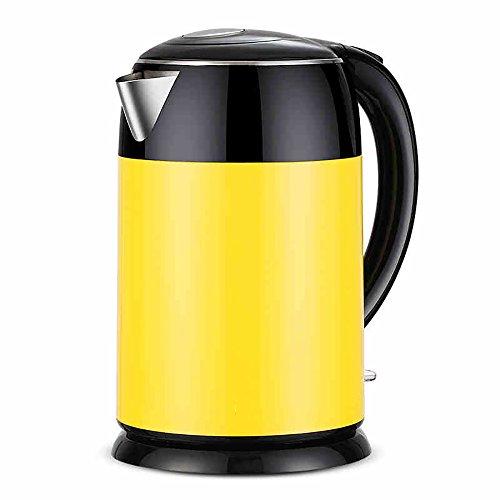 Bouilloire de chauffage automatique Bouilloire électrique en acier inoxydable Usine domestique Bouilloire anti-écailles 1.8 litres Jaune citron (taille: 26 * 17cm) Faire bouillir rapidement la bouillo