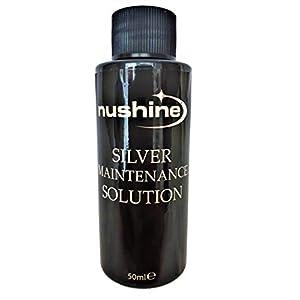 Nushine Silberpflegemittel, 50 ml, enthält Reines Silber (ideal für abgenutztes Silber)