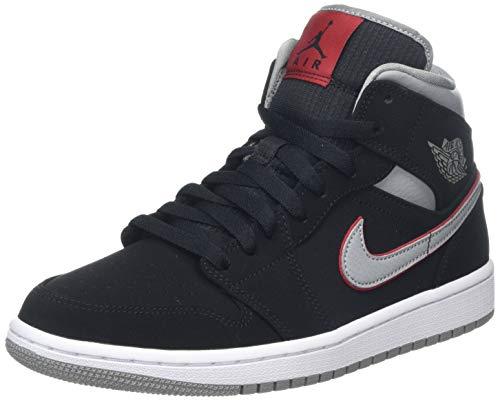 Jordan Herren Air 1 Mid 554724-060 Hohe Sneaker, Schwarz (Black), 44 EU Mid Sneaker