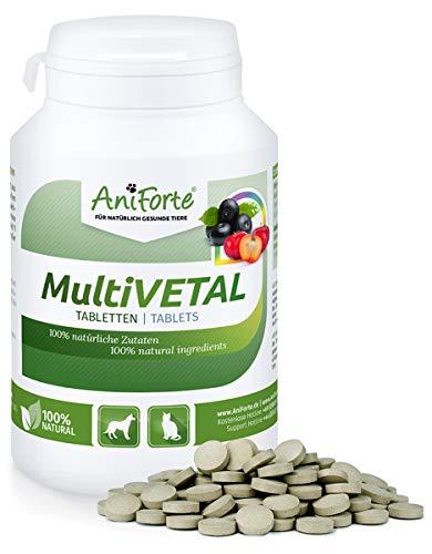 AniForte MultiVETAL Multivitamin für Hunde, Katzen 250 Tabletten - Natürliche Multi-Vitamine und Nährstoffe für eine optimale Versorgung, Unterstützung der natürlichen Abwehrkräfte