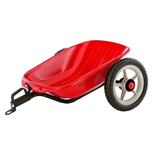 Kettler Kettcar Anhänger, rot – das coole Tretauto Zubehör inkl. Anhängerkupplung – ideales Extra für Kinderfahrzeuge – 5 bis 12 Jahre – Artikelnummer: 0T10034-0000