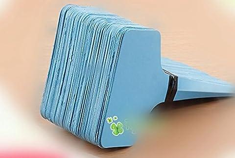 ETGtek 1set plastique pépinière étiquette Plante Fleur épais Tag Mark