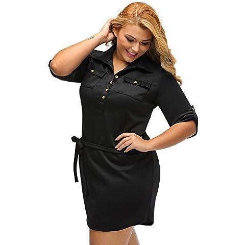 YLSZ-Fat woman dresses, XL suits, button UPS, belt shirts, large