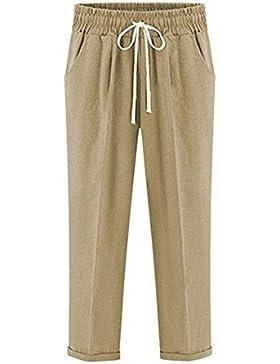 Pantalones Mujer Pantalones Harem Correas Cruzadas Pantalones Verano Fino Pants Tallas Grandes Anchos Elásticos...