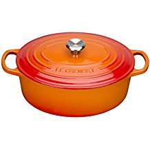 Le Creuset Gusseisen Bräter Signature oval 31 cm, ofenrot