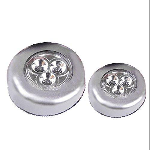 Zhen+ 1 Stück mit 3 LED Mode Mini Touch-Licht Batteriebetrieben, Leuchte Schrankleuchte Unterbauleuchte LED-Licht für...