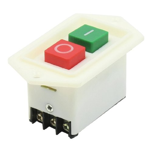 sourcingmap 2 Position Verriegelung DPDT rot Stop grün Starten Druckschalter AC 380V 10Amp (Starten Terminal)