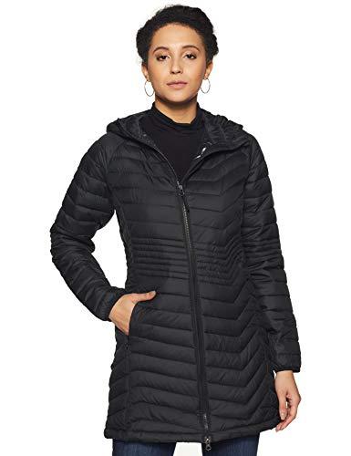 Columbia Powder Lite Jacket Chaqueta Larga, Mujer, Negro Black, M