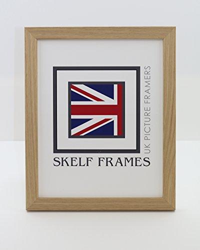 Foto-licht-frame (Skelf Frames Bild/Foto oder Zertifikat Rahmen-aus massivem Holz mit Licht Eiche Furnier Rahmen (45,7x 30,5cm))
