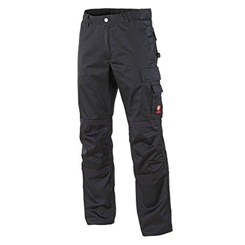 Krähe Arbeitshose Profession Pro Herren – angenehm & strapazierfähig, 8 Taschen, vorgeformte Kniepolstertaschen in schwarz Größe 48