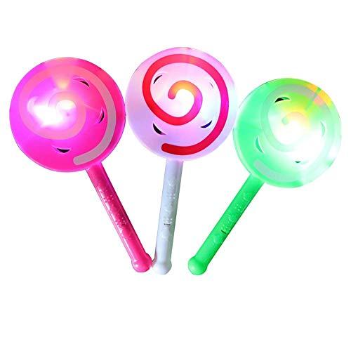 Zauberstab, Party Decor Lollipop Hand Halter Glow Sticks mit Bell Zauberstab, blinkend Kinder Spielzeug 1Stück zufällige Farbe ()