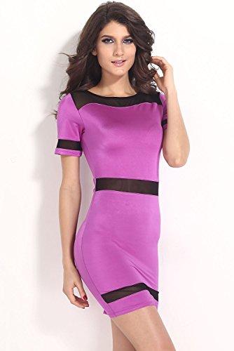 Dissa® femme Violet SY21237 robe de cocktail Violet