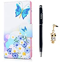 YOKIRIN Sony Xperia L1 Phone Case, Sony L1 Cases, PU Leather Wallet Flip Cover with Cute Stickers and Card Holders Magnetic Clasp and Kickstand Features Snug Fit Anti Slip Protective Skin