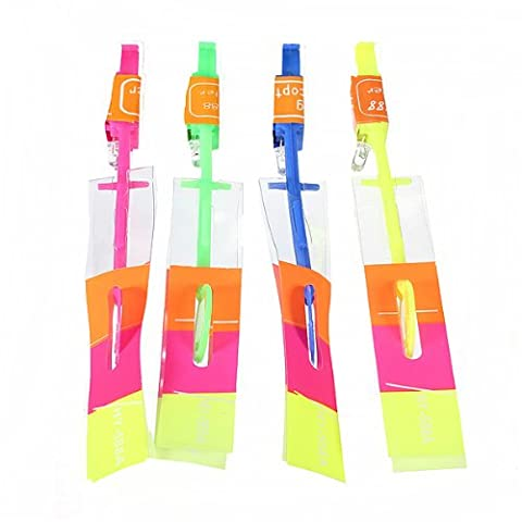 12 PCS Fun Rubber Band Flying Rocket Rotating Flashing LED Light Arrow Helicopter Toy by FamilyMall