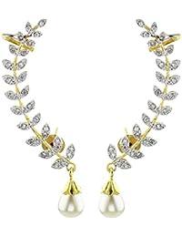 YouBella Stylish Party Wear Jewellery Gold Plated Cuff Earrings for Women (Golden)(YBERC_30A)
