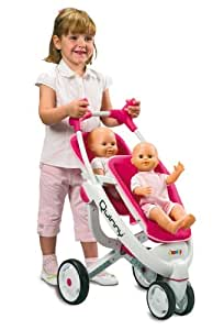 SMOBY MAXI COSI QUINNY DOLLS DOUBLE DECKER STROLLER ...