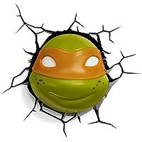 Image of 3D Light FX Nickelodean Plastic Teenage Mutant Ninja Turtle Michaelangelo Light - Green/Orange - Comparsion Tool