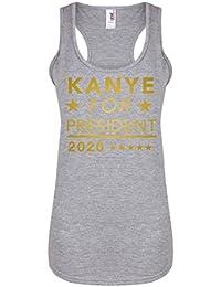Kanye For President, 2020 - Light Grey - Women's Racerback Vest - Fun Slogan Tank Top