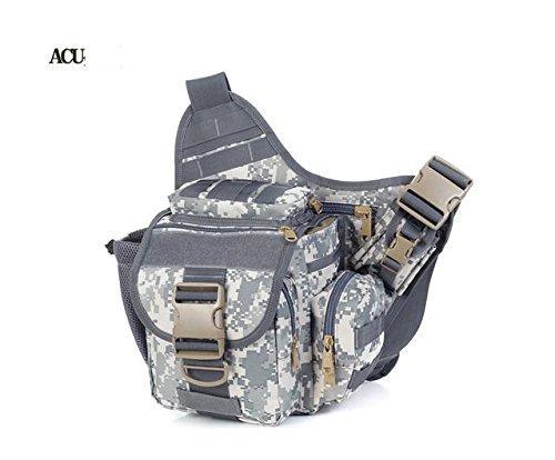 Zll/2015nuova fotocamera borsa tattico esercito fan Sella Borsa tempo libero all' aperto singolo Tracolla Slung, Verde militare ACU