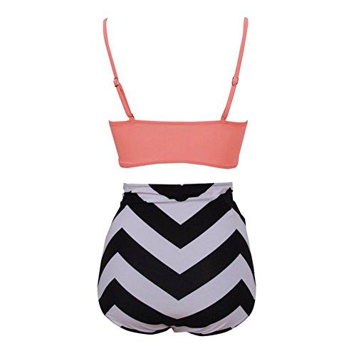 Sexy Bademode High Waist Badeshort Push-Up Badeanzug Big Size Cups Bikini mit hoher Taille Stil 8
