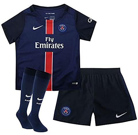 Nike pSG Home lb Kit – Costume complet Paris Saint Germain 2015/2016 Unisexe S Azul Marino / Blanco (Midnight Navy/Football White)