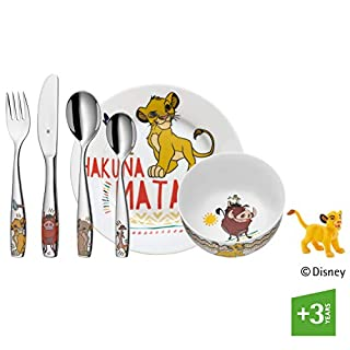 WMF Disney El Rey León - Vajilla para niños 6 piezas, incluye plato, cuenco y cubertería (tenedor, cuchillo de mesa, cuchara y cuchara pequeña) Kids infantil (B07C5T48RZ) | Amazon price tracker / tracking, Amazon price history charts, Amazon price watches, Amazon price drop alerts