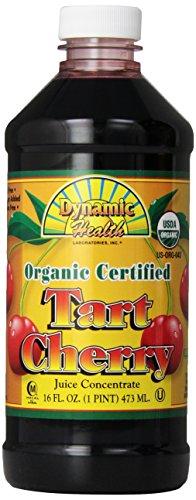 Dynamic Health, Jus de cerise aigre concentré certifié organiquement , 16 oz (473 ml)