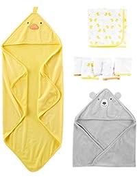 Simple Joys by Carter's- Set di asciugamani, 8 pezzi, per bambini