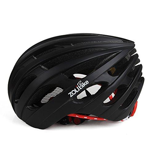 Poids ultra léger -Premium Quality Airflow Casque de vélo spécialisé pour vélo de route et de montagne - Casques de vélo certifiés de sécurité pour hommes et femmes adultes, adolescents garçons et filles - Confortable, léger, respirant - Avec trois lentilles ( Color : Black )