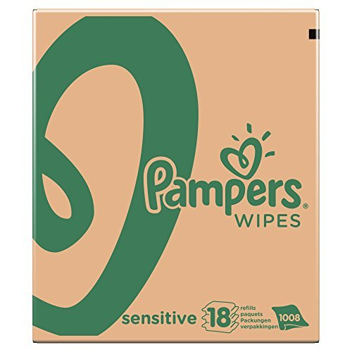 Pampers Sensitive Baby Wipes – Pack of 18 (Total 1008 Wipes) by Pampers 41bJ6OzD15L