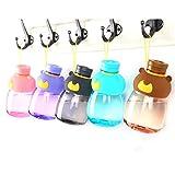 JP0SDD Auslaufsicheres Wasser Fütterung Flasche Cartoon Kid Wasserkocher Schule FlaschenBear Shaker Sport Trinkflasche