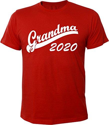 Mister Merchandise Herren Men T-Shirt Grandma 2020 Tee Shirt bedruckt Rot