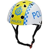 KIDDIMOTO Police S Casco para niños, Infantil, 48-52 cm