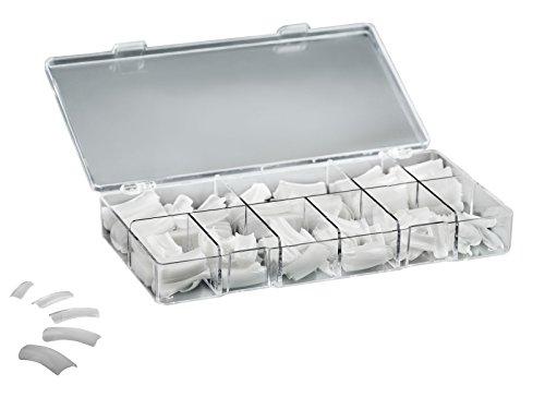 Acryl Nagel Tipps (Profi Kunstnägel Natur Nagel Tips Set mit Box für Gelnägel und Acryl, 250er Pack)