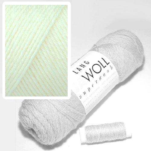 Lang Jawoll Superwash Sockenwolle Farbwahl (94 - Wollweiß) -